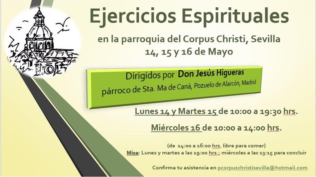 Ejercicios espirituales Don Jesús Higueras mayo 2018