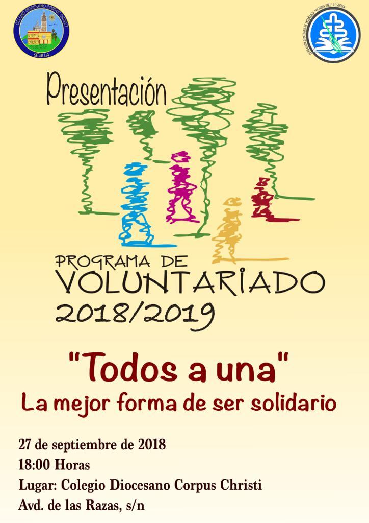 Programa de voluntariado 2018-2019 Colegio Diocesano Corpus Christi
